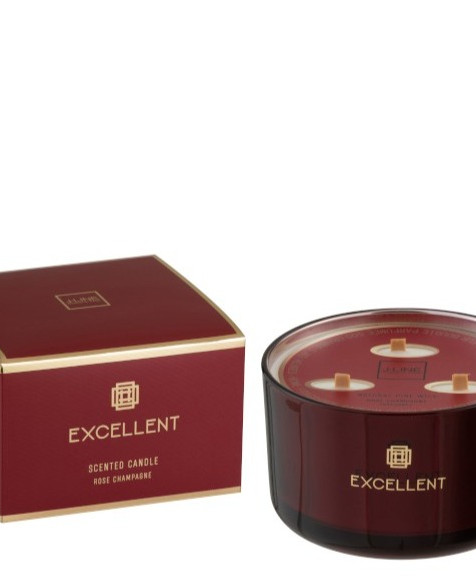Bougie Parfumee EXCELLENT Rose Champagne 50 heures