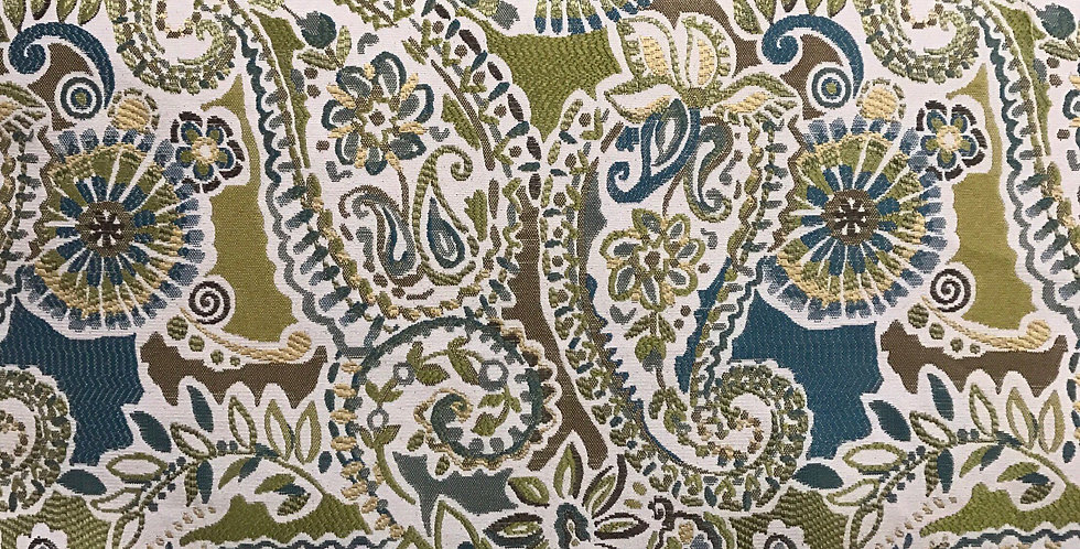 Teal paisley  - Green - Paisley Piper Citron