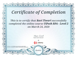 Certificates of RPA-UiPath Level-2