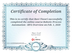 Certificates of RPA-UiPath