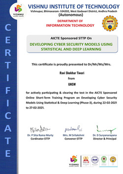 STTP-3 Deep Learning with Cyber Security