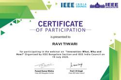 IEEE- Participation Certificate