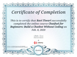Certificates of Building Chatbot - without coding