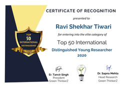 Youngest Researcher Award : year 2020