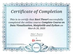 Certificates of Visualization of statistics