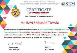 Aicte SRM ! week STTP on MAchine Learning with Python and Data Science