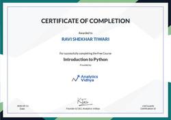 Python Course - Basic, Pandas, Visualisatons