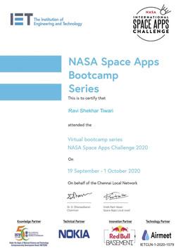 NASA Space App Bootcamp Series