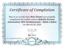 Certificates of RPA-UiPath Fundamentals