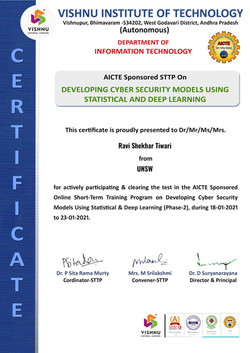 STTP-2 Deep Learning with Cyber Security