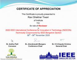 IEEE: INOCON, 2020