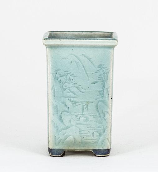 Bonsai Pot with Nail Drawing