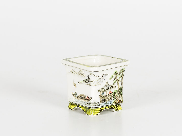 Mame Pot with Paintings on Four Sides