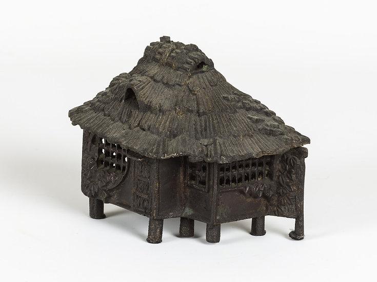 Bronze Thatched Roof Hut (Incense Burner)