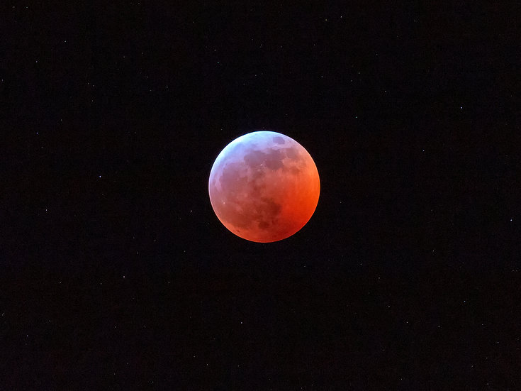 2019 Blood Moon Lunar Eclipse - Contact for size/prices
