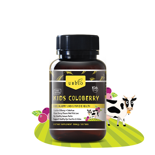 [UBBIO] KID'S COLOBERRY  (COLOSTRUM + BILBERRY ) _ 180 TABS