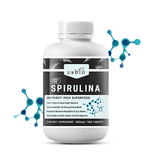 [UBBIO] SUPER FOOD SPIRULINA _ 500 TABS
