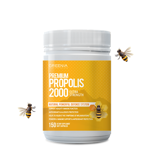[GREENIA] PREMIUM PROPOLIS 2000_ 150 SOFTGEL CAPS