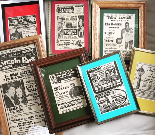 Framed local ephemera