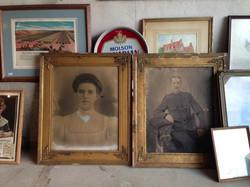 Vintage framed portraits