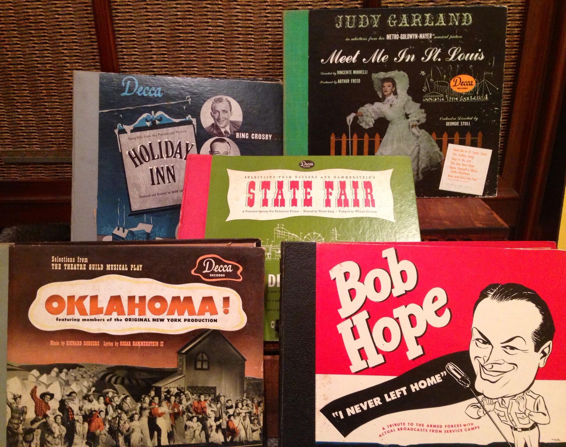 Vintage 78 Record sets