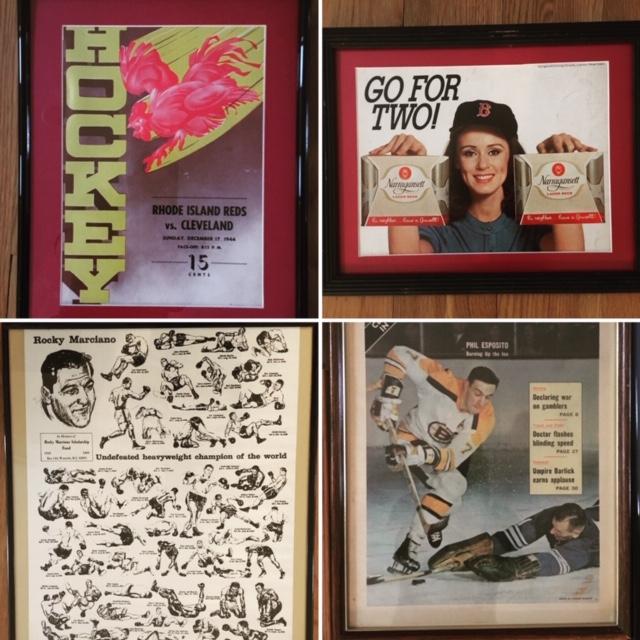 Vintage Framed Sports memorabilia