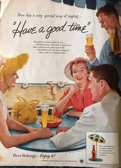 Classic beer ads