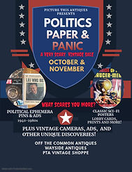 POLITICS PAPER AND PANIC SALE - Made wit