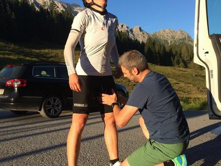 Nicole und Heike beim Race Around Austria vom 10. - 13.08.2016