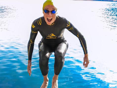 Neoprentestschwimmen im Freibad Roth am 5. Juni 2021