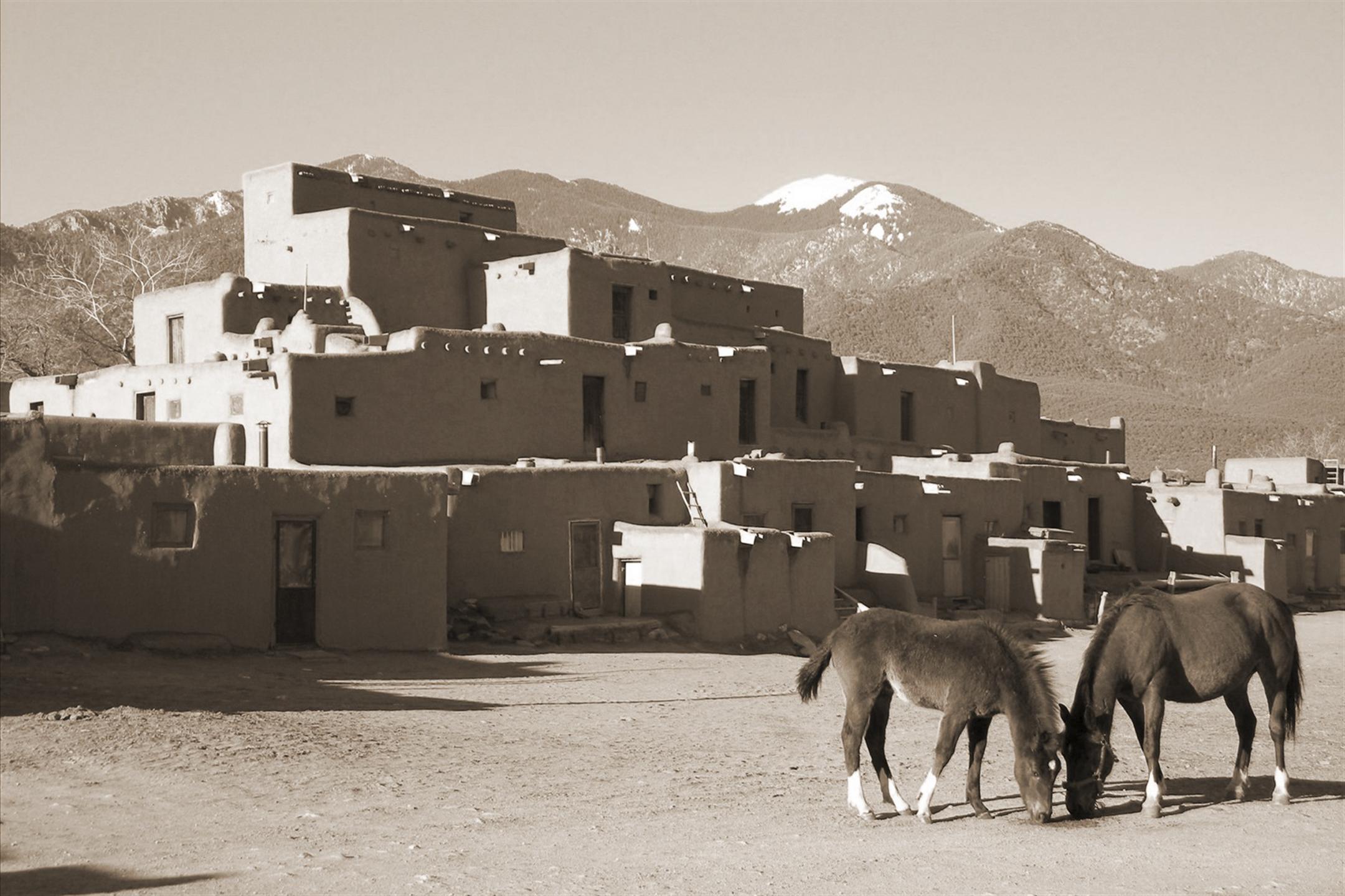 taos horses.sepia