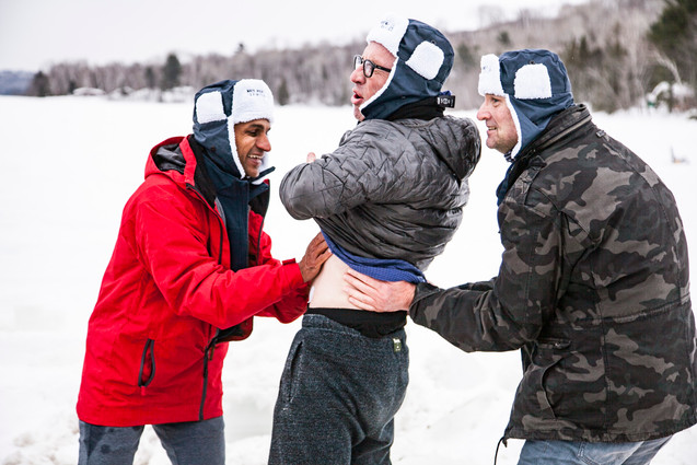 Warming hands in Canada