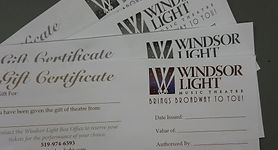 gift certificates for Windsor Light Music Theatre
