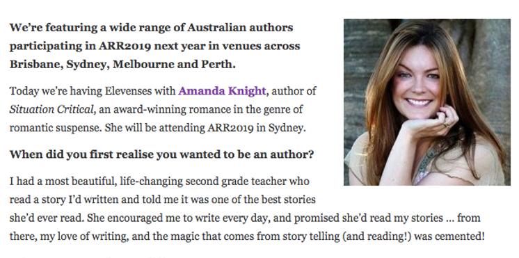 Amanda Knight - Australian Romance Readers Association