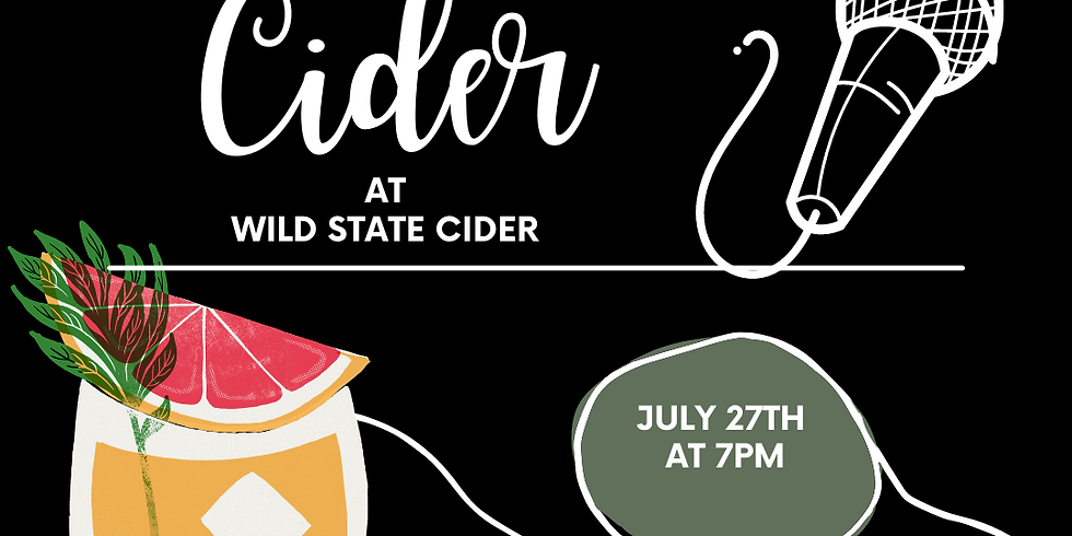 Comedy and Cider at Wild State Cider; A Live Stand Up Event