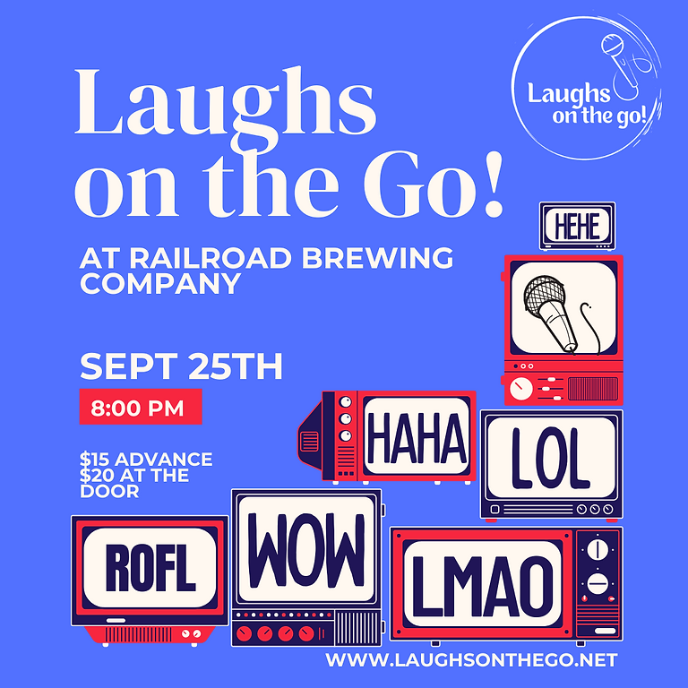 Laughs on The Go at Railroad Brewing Co. - A Live Stand Up Comedy Event