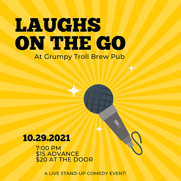 Laughs on The Go at Grumpy Troll Brew Pub - A Live Stand Up Comedy Event