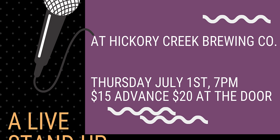 Laughs on the Go at Hickory Creek Brewing; A Live Stand Up Comedy Event