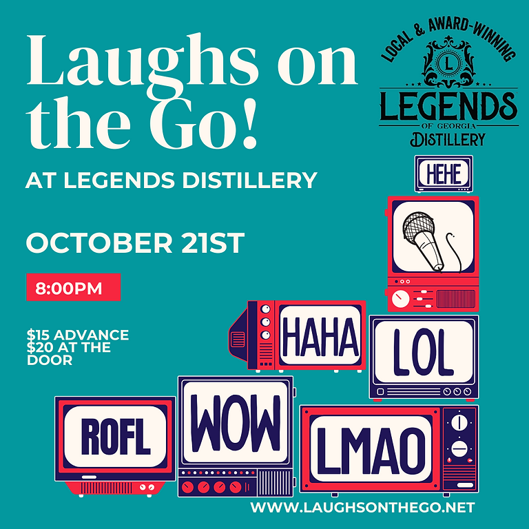 Comedy and Cocktails at Legends Distillery, A Live Stand Up Comedy Event!