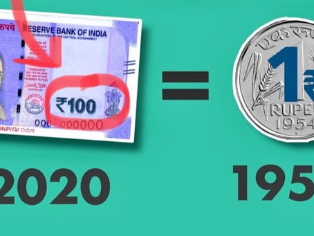 ₹ 1.25 of 1958 = ₹100 of 2020 | Inflation Explained