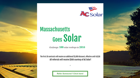 AC Solar 2016 Campaign: 100 solar rooftops in 2016