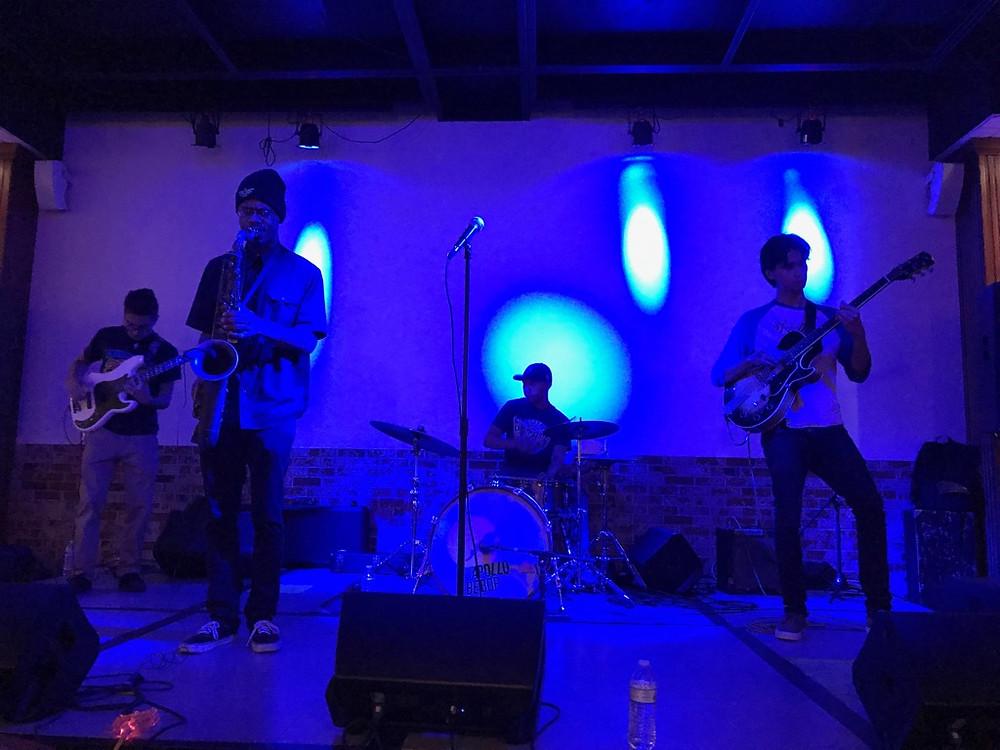 The members of Apollo Bebop, jamming.