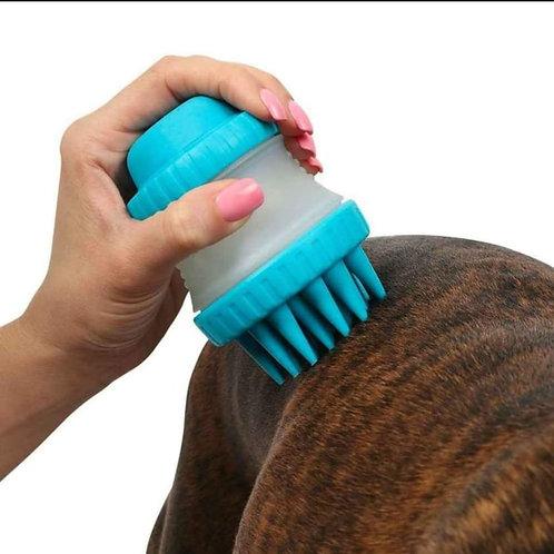 Cepillo dispensador de jabón para baño de mascotas