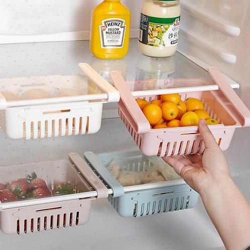Cesta organizador extendible para refrigeradora