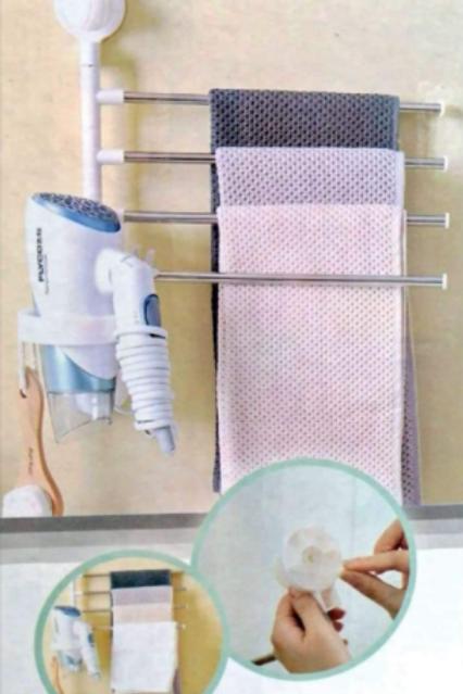 Organizador de pared para toallas o ropa