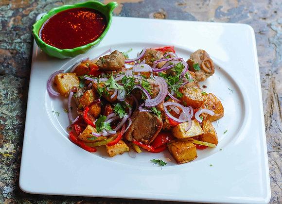 Оджахури из свинины и картофеля по-деревенски