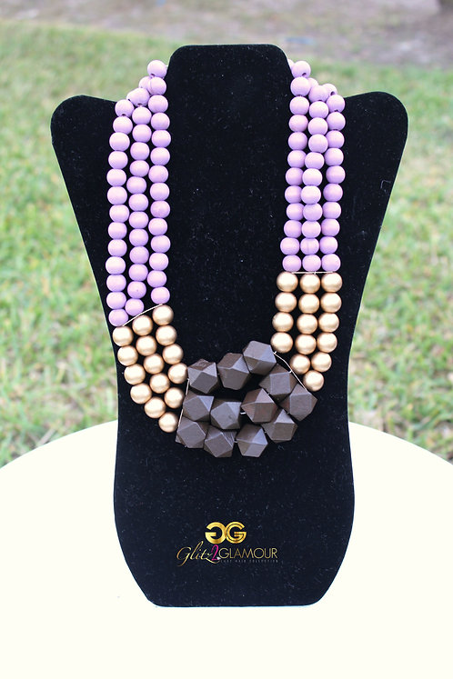 Aztec Wooden Necklace