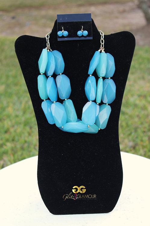 Bejewled Necklace Set