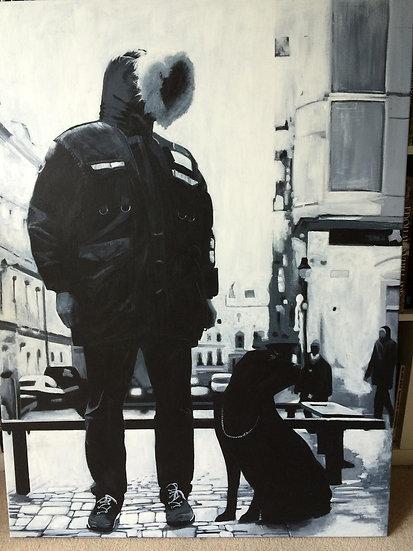 London Boy - Original Acrylic Painting