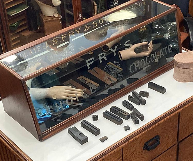 1920's Fry's Shop Counter Display